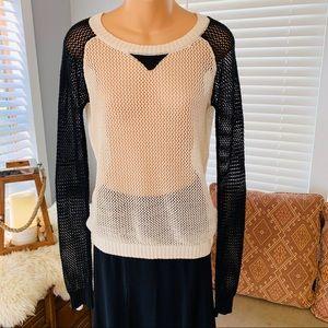 POOF! mesh fishnet sweater! LIKE NEW!